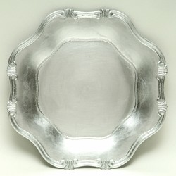 ChargeIt by Jay Baroque Silver Charger Plate 13""