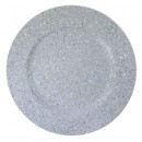 ChargeIt by Jay Silver Glitter and Stars Round Charger Plate 13""