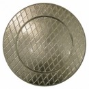 ChargeIt by Jay Silver Plaid Acrylic Charger Plate 13""