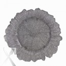 Ten Strawberry Street Silver Reef Glass Charger Plate 13