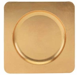 Square Acrylic Gold Charger Plate