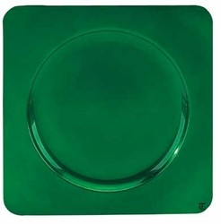 Square Acrylic Green Charger Plate