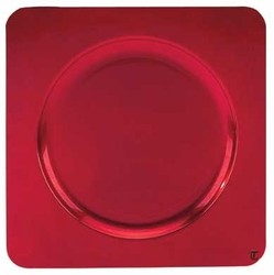 Square Acrylic Red Charger Plate