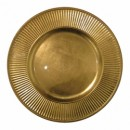 Sunray Gold Acrylic Charger Plate