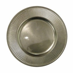 Sunray Silver Acrylic Charger Plate