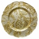 Chargeit by Jay Vanessa Gold Round Glass Charger Plate 13""