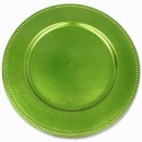 Ya Ya Creations Lime Beaded Acrylic Round Charger Plate 13""