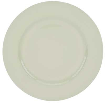 "Ya Ya Creations White Beaded Acrylic Round Charger Plate 13"""