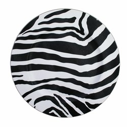 Zebra Acrylic Charger Plate